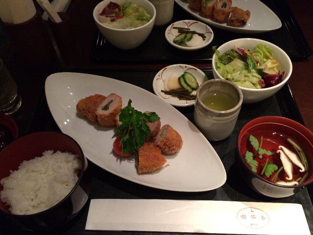 ちょっと夕食(ヒレカツご膳)