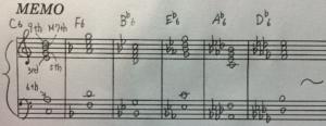 Major6th chord 宿題
